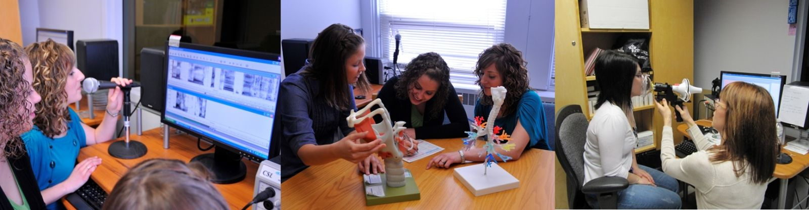 Students participating in a speech-language pathology class.