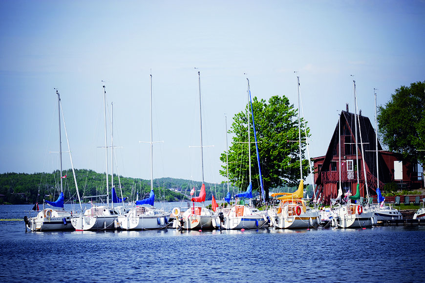 Boats on Ramsey Lake