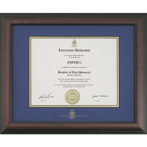 Briarwood Style Diploma Frame Photo