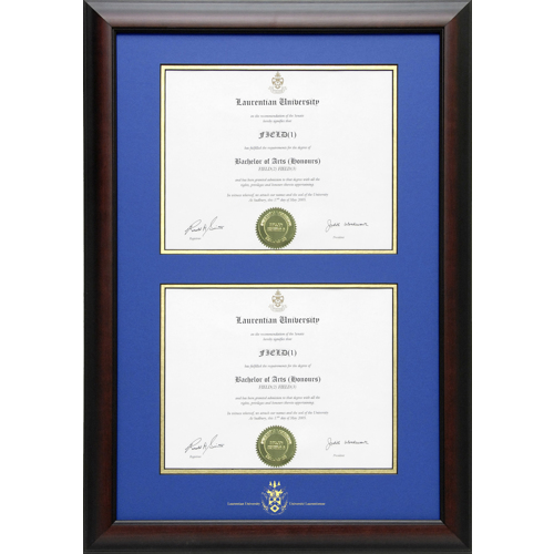 Briarwood Double Style Diploma Frame Photo