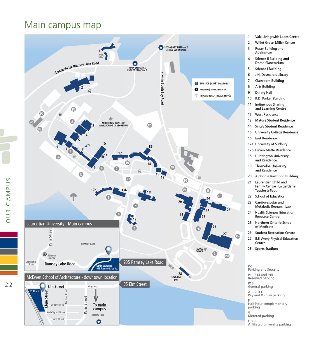 Sudbury Campus Map