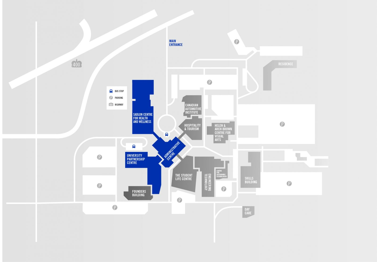 Barrie Campus Map