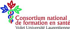 The logo of the consortium national de formation en sante.