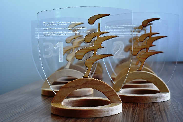 Trophies for the Top 10 winners