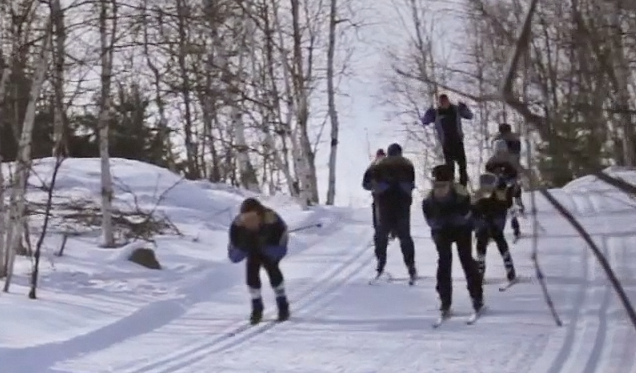 Preview of skiing students