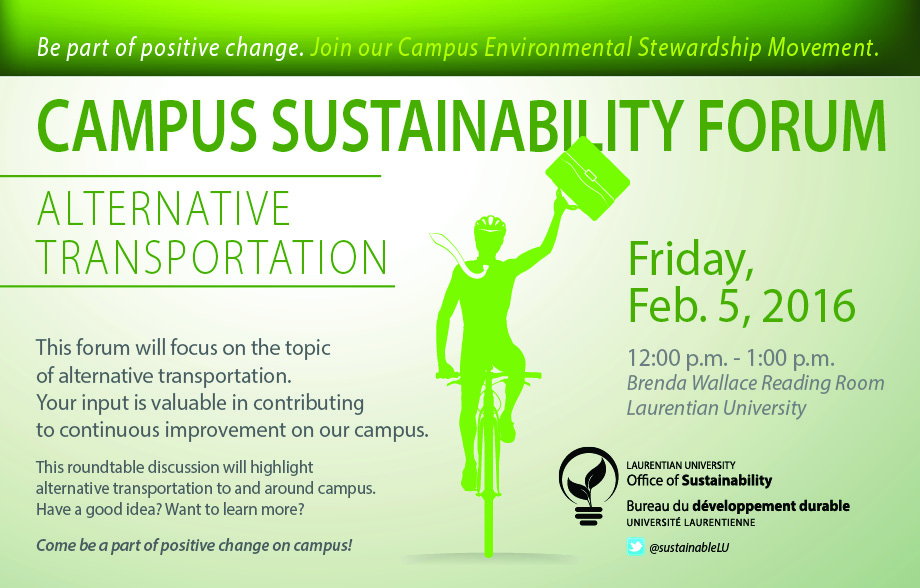 Sustainability Forum Invitation