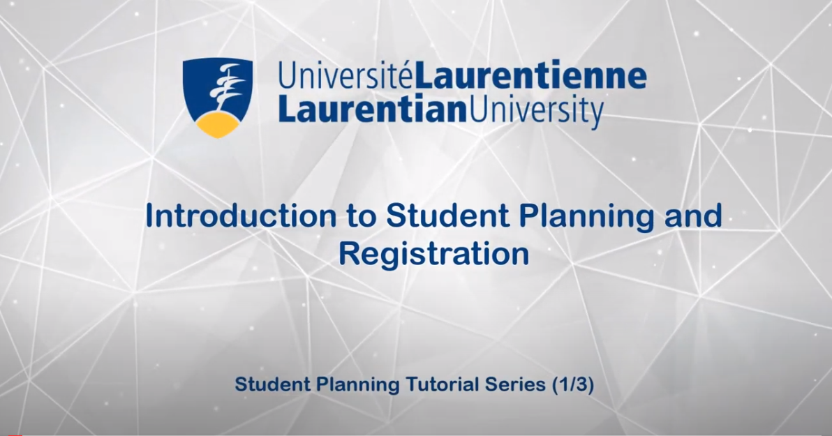 Introduction to Student Planning and Registration