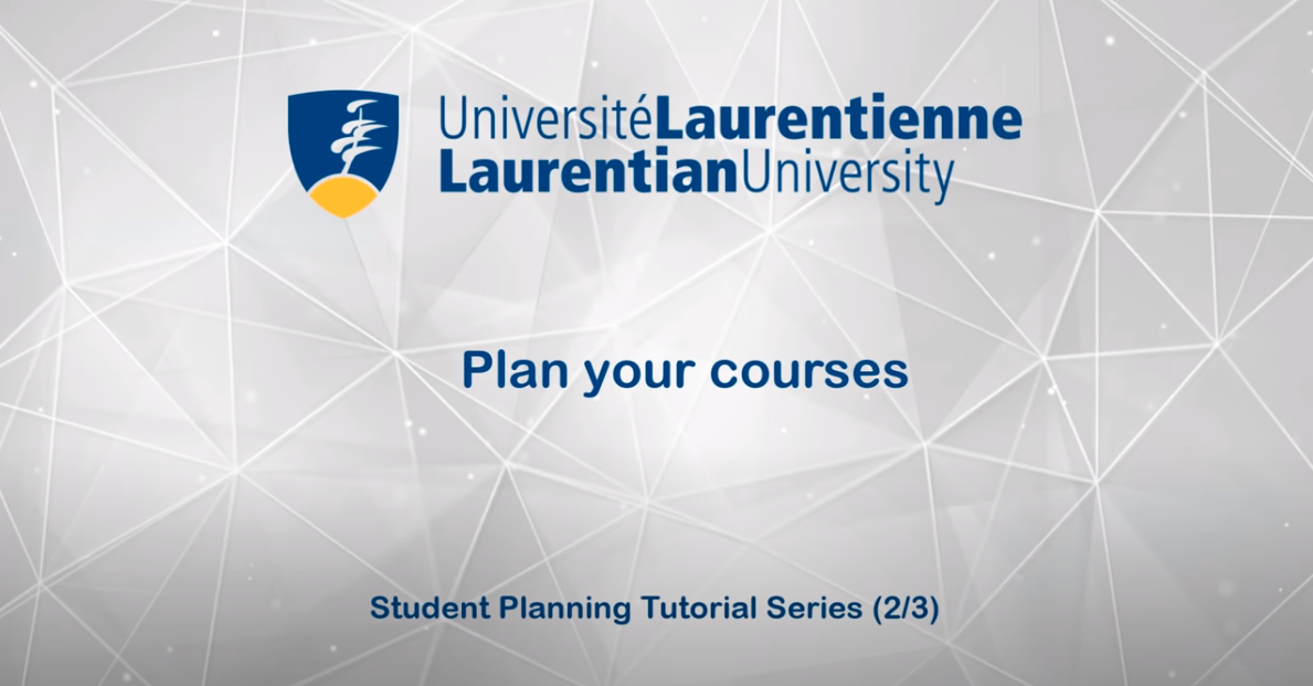 Plan your courses